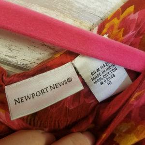 Newport News Dresses - Newport News red floral print sleeveless dress